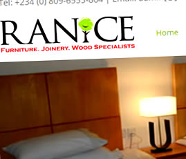 Ranice website design Nigeria
