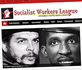socialistworkersleague website design