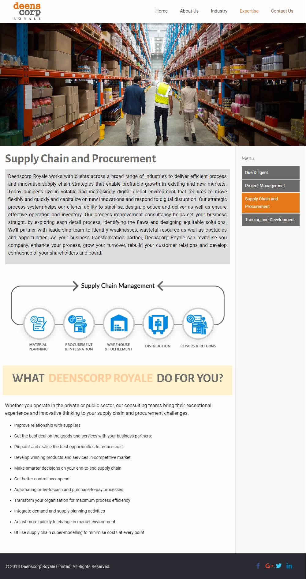 Website Design in Nigeria for Deenscorp Royale, UK