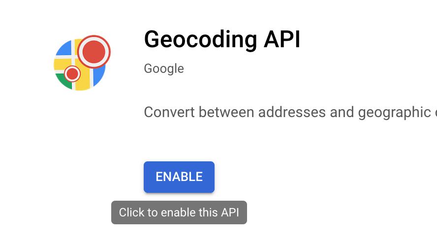 Enable Geocoding API