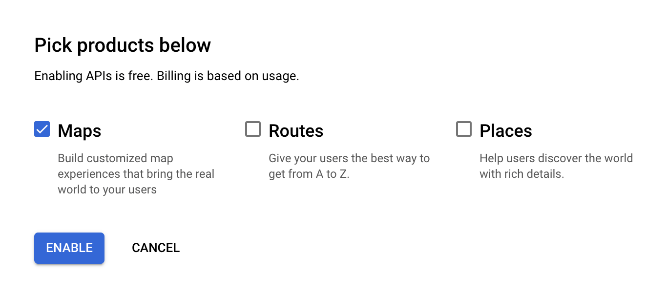 Google Maps Products